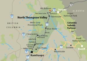 North Thompson Valley Corridor Map
